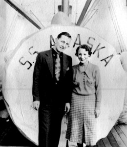 1  1937 Richard Burrell Webb and Mildred Lucas Webb on  SS Alaska