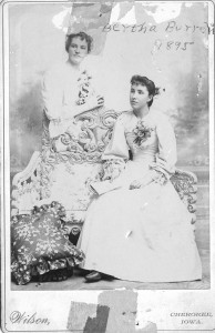email Lulu and Bertha Burrell 1895