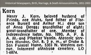 KORN_Henry_J-obit-Oct-1962