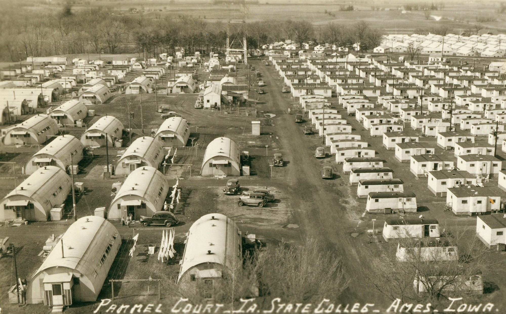 A view of Pammel Court, married housing area in Ames.